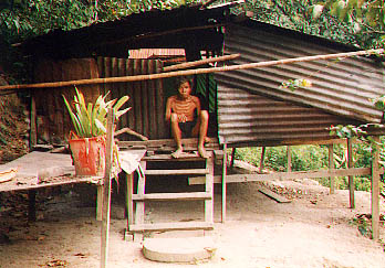 Pak Diap's last days were lived in this shanty (pic by Antares)
