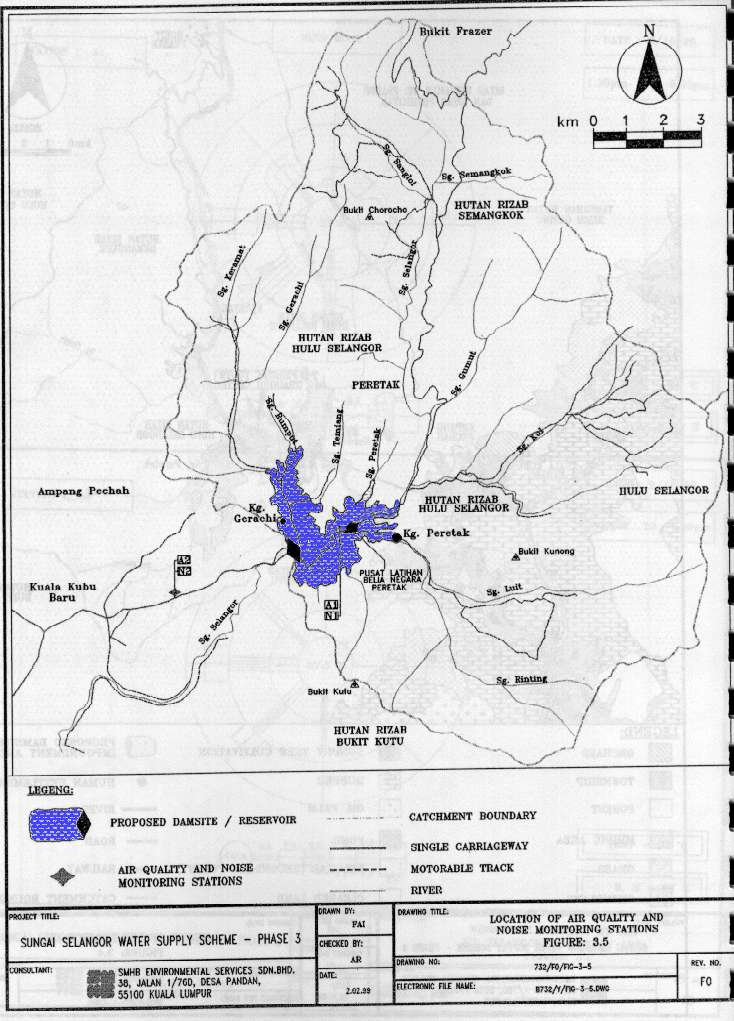 Proposed Selangor Dam: RESERVOIR AREA (EIA report by SMHB)